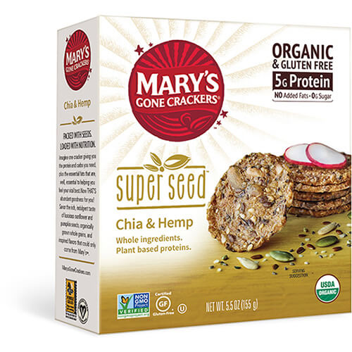 Super Seed Chia & Hemp Crackers - Buy Now